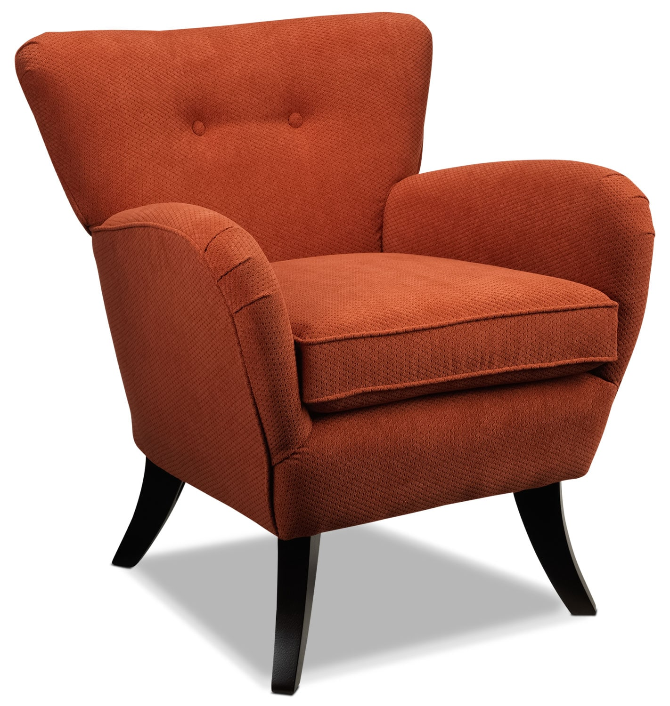 Living Room Furniture - Elnora Accent Chair - Terracotta Orange