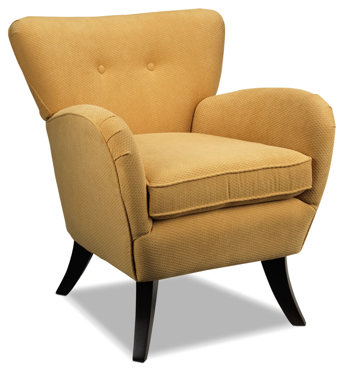 Living Room Furniture - Elnora Accent Chair - Lemon Yellow