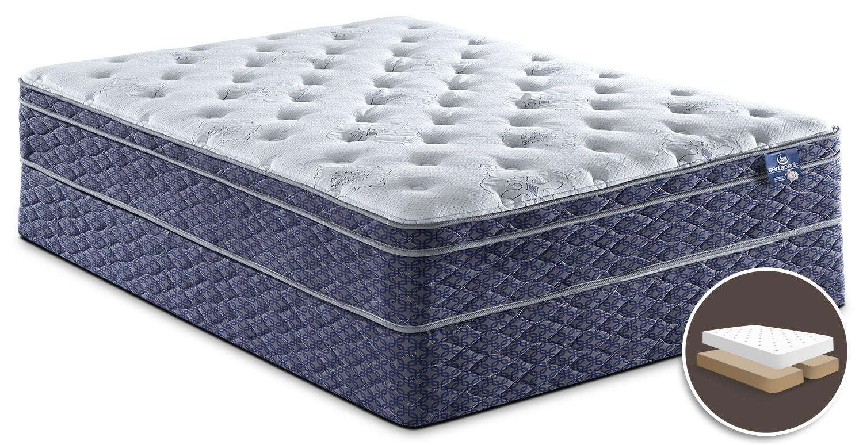 Mattresses and Bedding - Sertapedic® Endorsement Euro-Top Split Queen Set