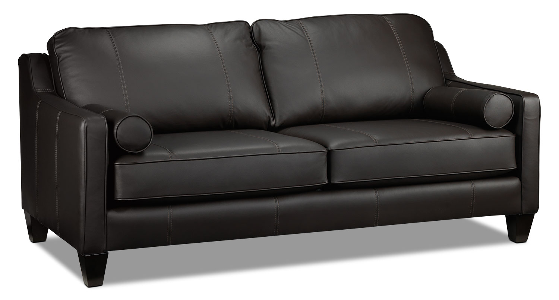 Living Room Furniture - Selinda Sofa - Espresso