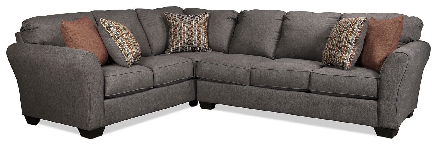 Montclair 2-Piece Right-Facing Sectional - Gray