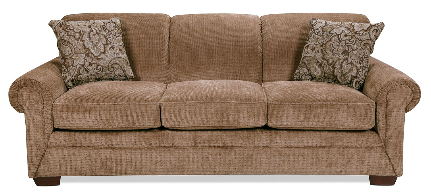 Living Room Furniture - Embark Queen Sleeper Sofa - Desert