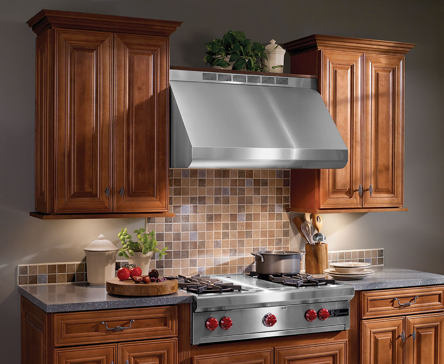 "Cooking Products - Broan 36"" Pro-Style Wall-Mounted Range Hood – E6036TSSLC"