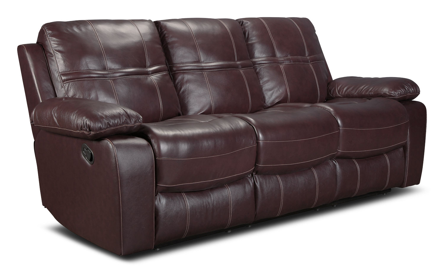 Belgrade Reclining Sofa - Burgundy