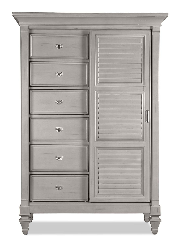 Bedroom Furniture - Brimley Gentleman's Chest - Grey