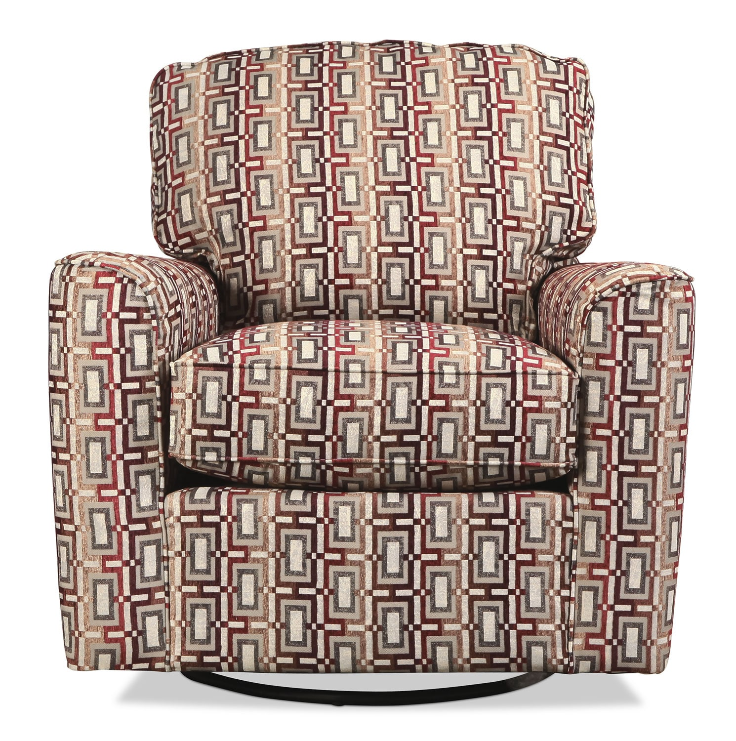 Hailey Swivel Chair - Geometric