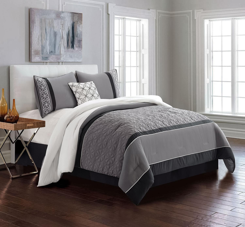 Mattresses and Bedding - Reinhart 4-Piece Queen Comforter Set