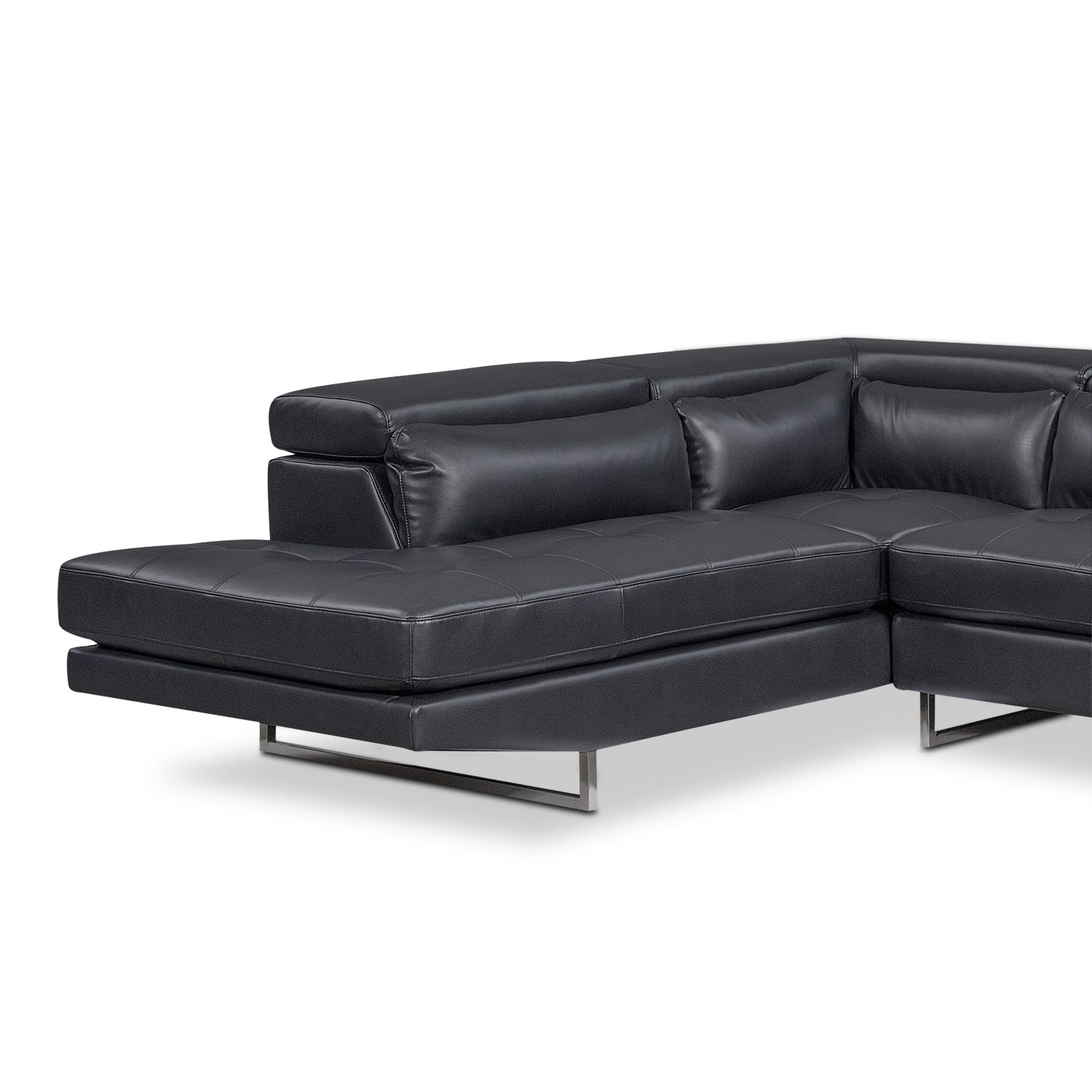 Torino 2 piece sectional with left facing chaise for 2 piece sectional sofa with chaise
