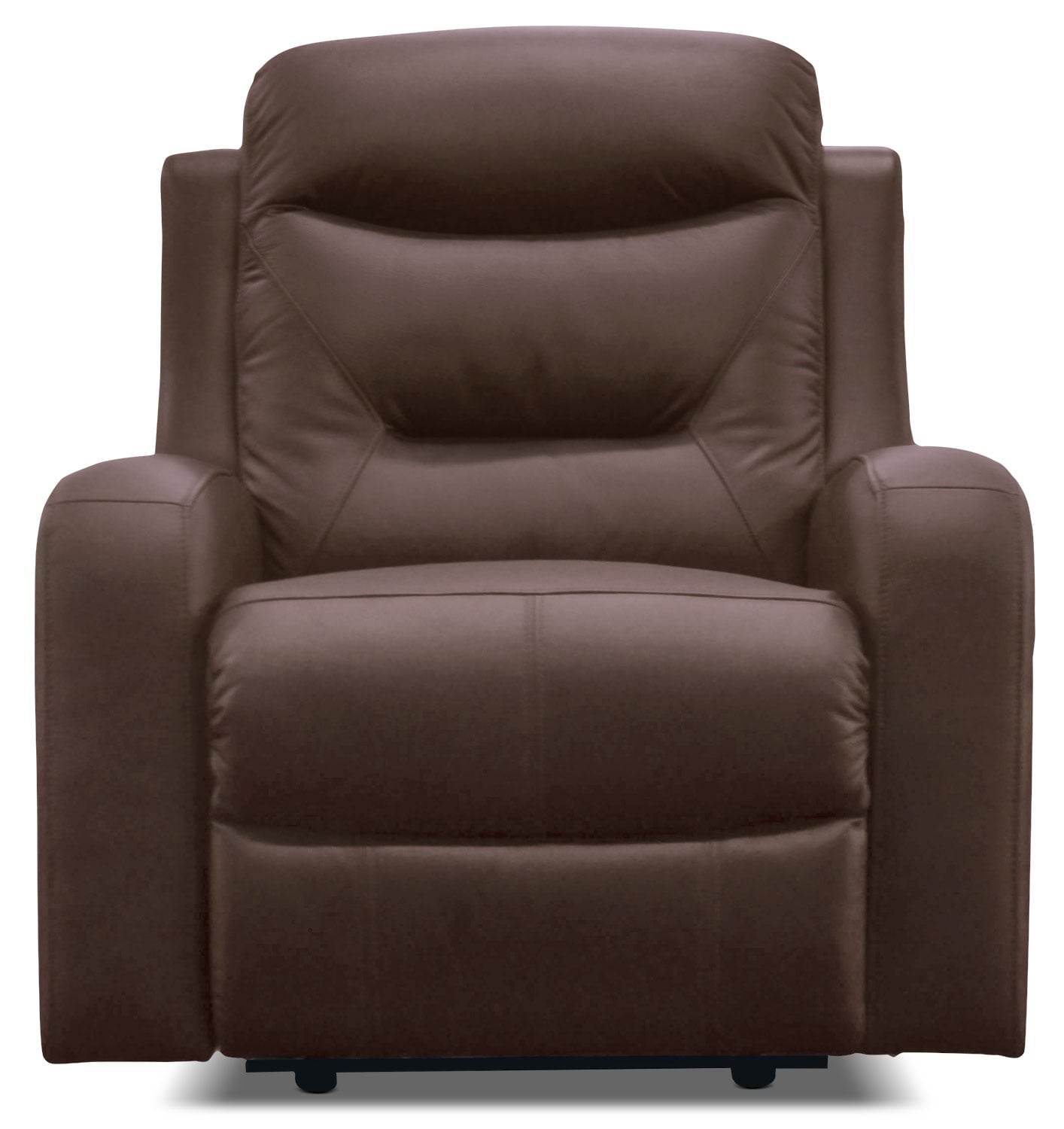 Living Room Furniture - River Genuine Leather Power Reclining Chair – Brown