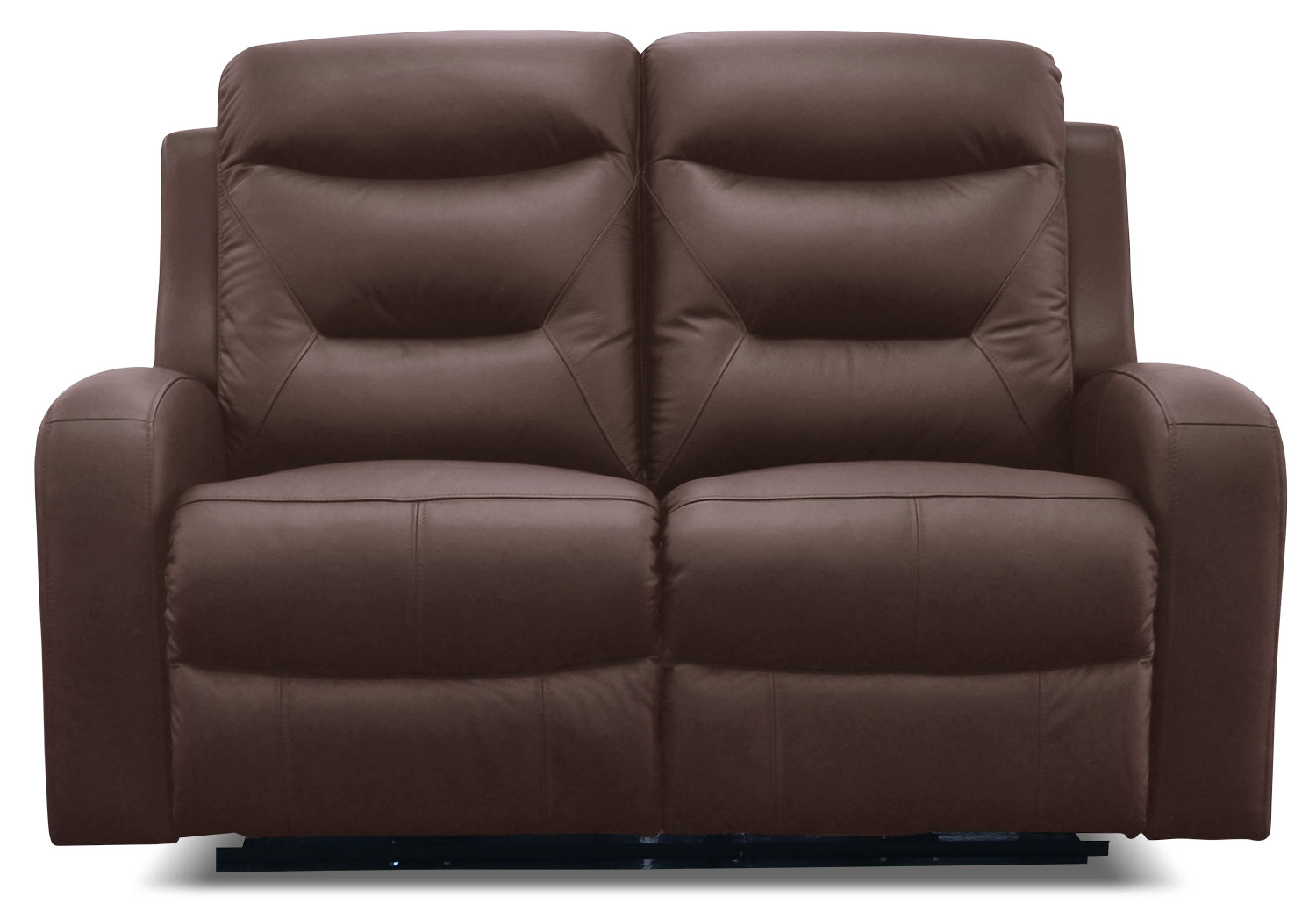 River Genuine Leather Power Reclining Loveseat – Brown