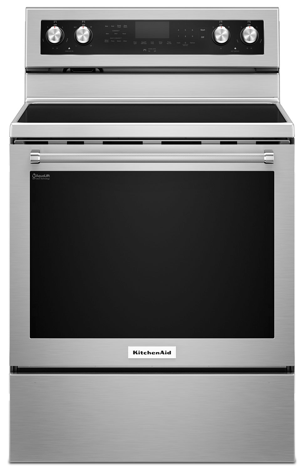 Cooking Products - KitchenAid 6.4 Cu Ft. Five-Element Electric Convection Range - Stainless Steel