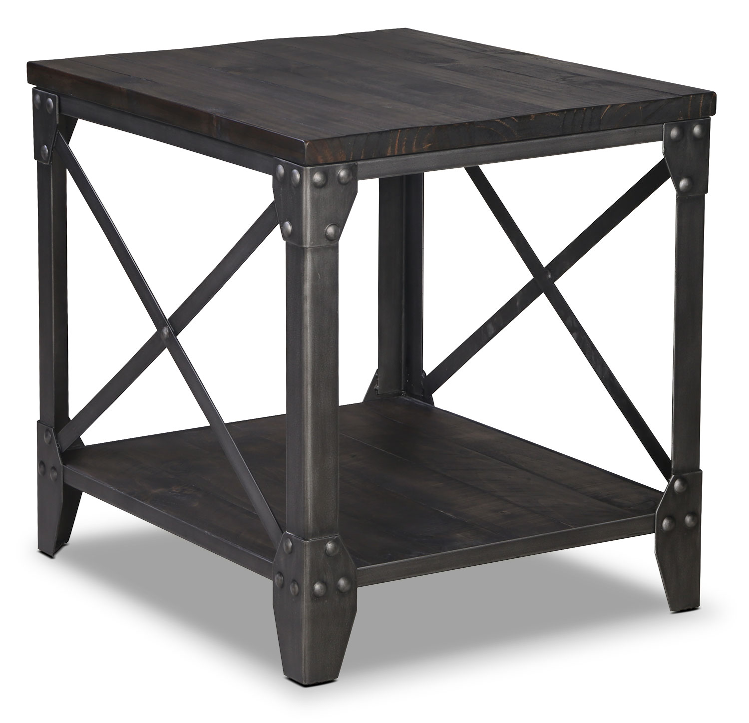 Accent and Occasional Furniture - Pinebrook End Table - Grey
