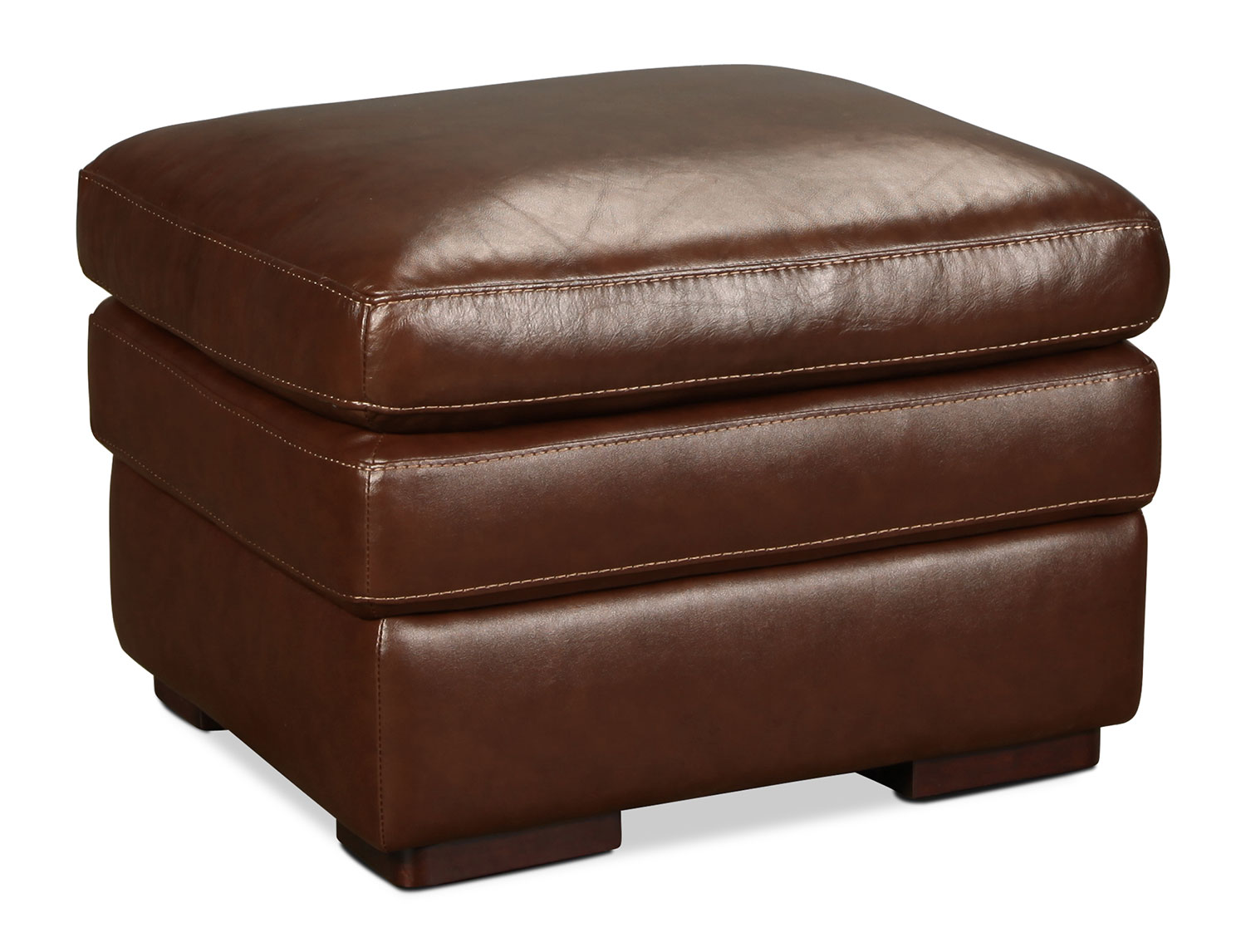 Hayes Ottoman - Brown
