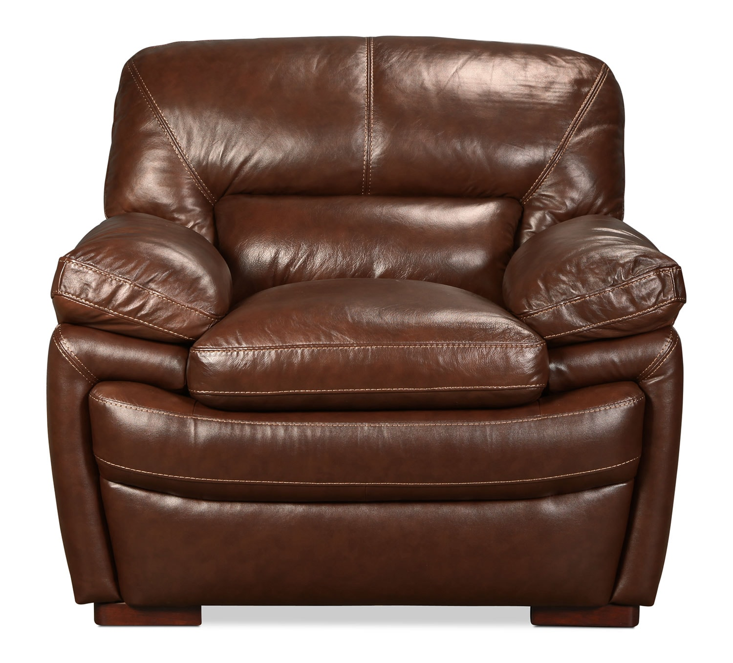 Living Room Furniture - Hayes Chair - Brown