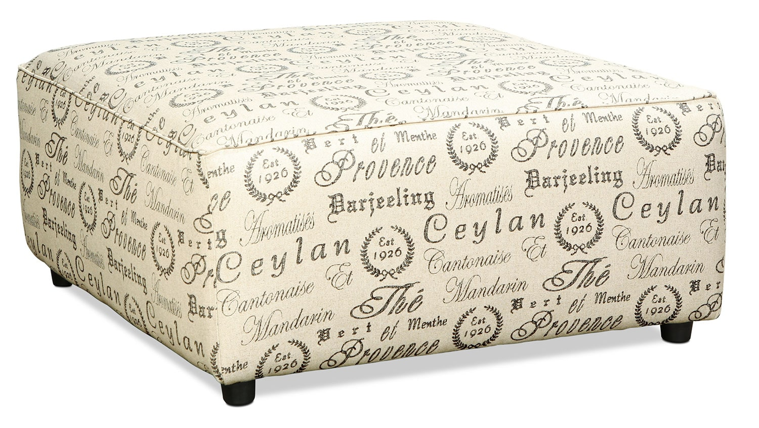 Serena Ottoman French Script Levin Furniture