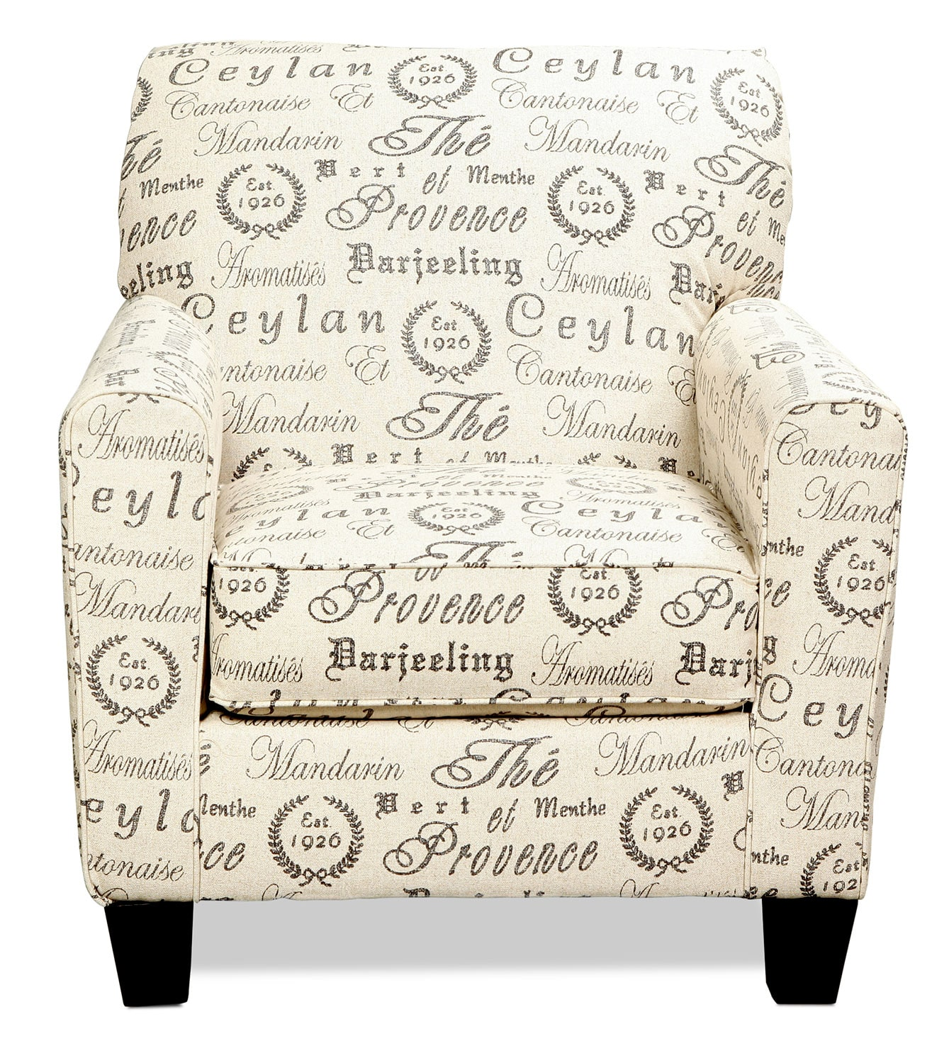 Serena Accent Chair French Script Levin Furniture