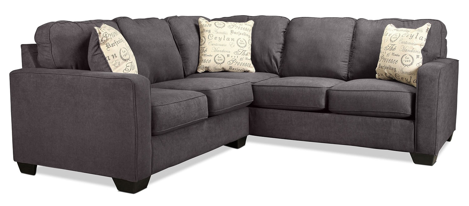 Serena 2-Piece Left-Facing Sectional - Charcoal