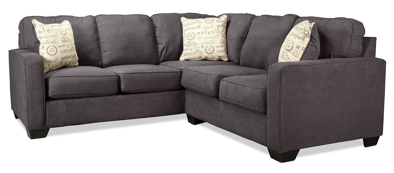Serena 2-Piece Right-Facing Sectional - Charcoal
