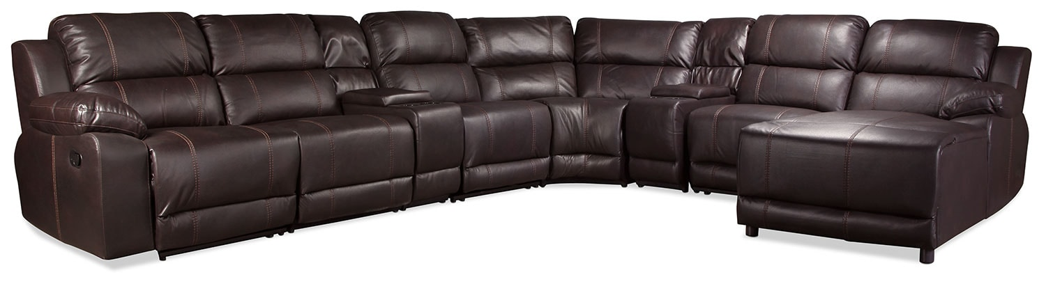 Loretto 7-Piece Reclining Sectional - Java