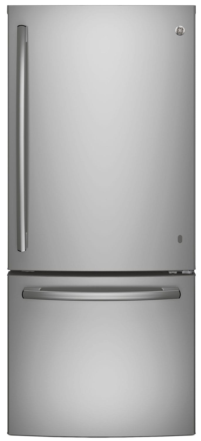 GE 20.9 Cu. Ft. Bottom-Freezer Refrigerator – GBE21ASKSS