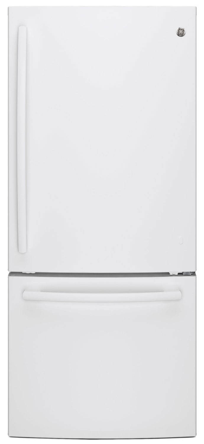 Refrigerators and Freezers - GE 20.9 Cu. Ft. Bottom-Freezer Refrigerator – GBE21AGKWW