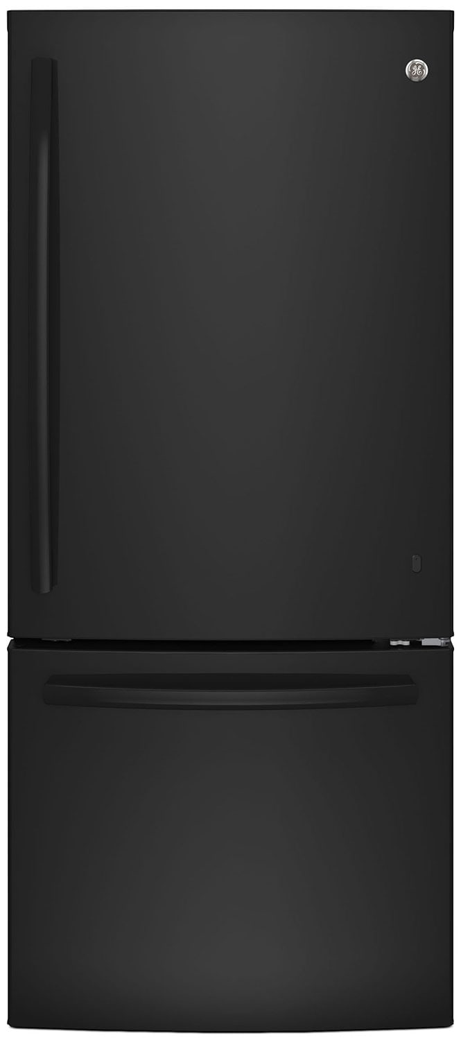 GE 20.9 Cu. Ft. Bottom-Freezer Refrigerator – GBE21AGKBB