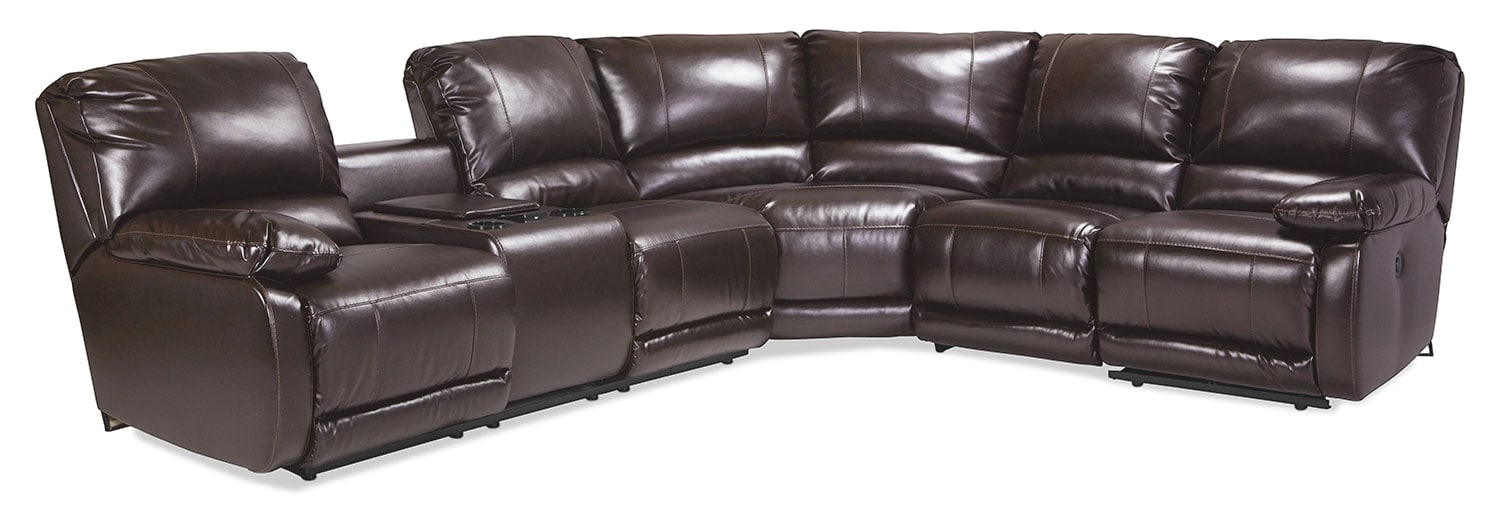 iLiving 4-Piece Sectional - Chocolate