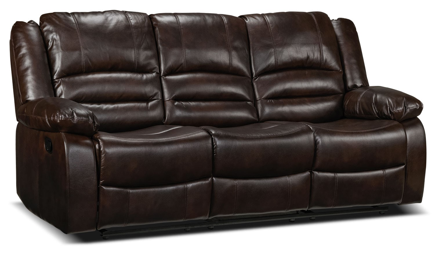 Living Room Furniture - Brooksdale Reclining Sofa - Deep Brown