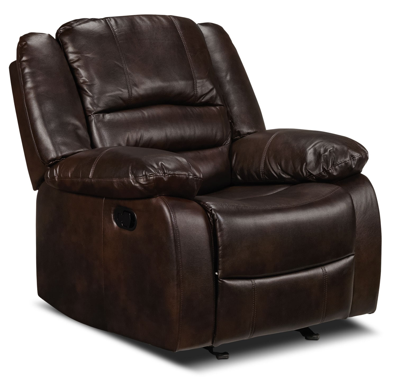 Living Room Furniture - Brooksdale Rocker Recliner - Deep Brown