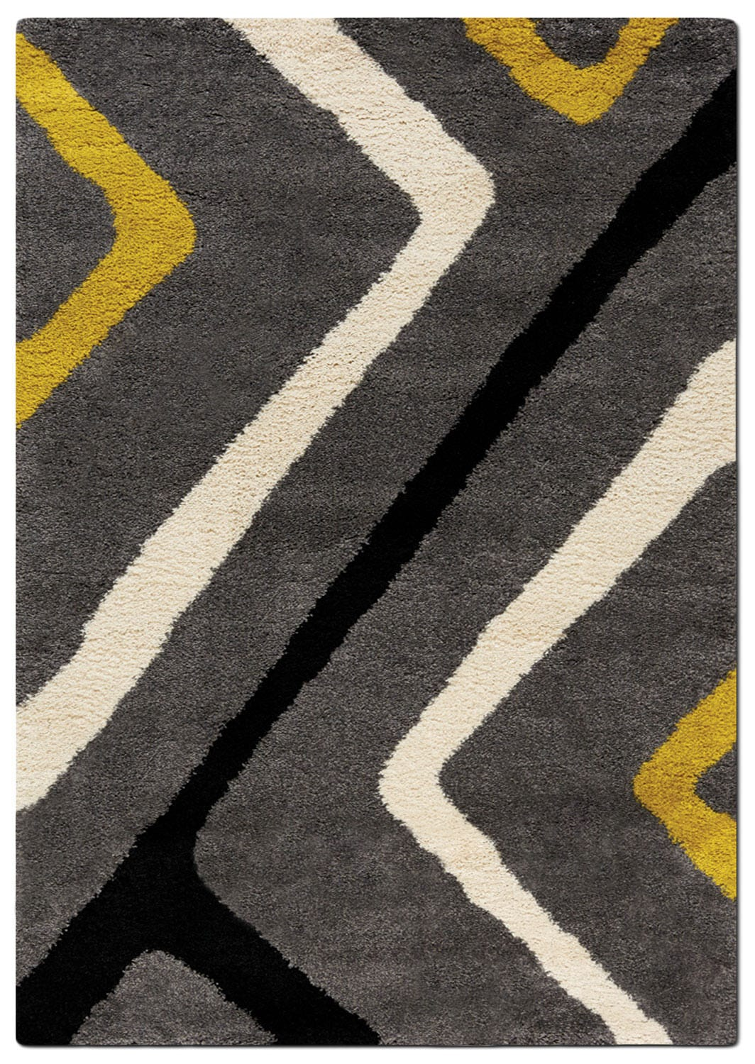 Rugs - Maroq 5' x 8' Area Rug - Grey