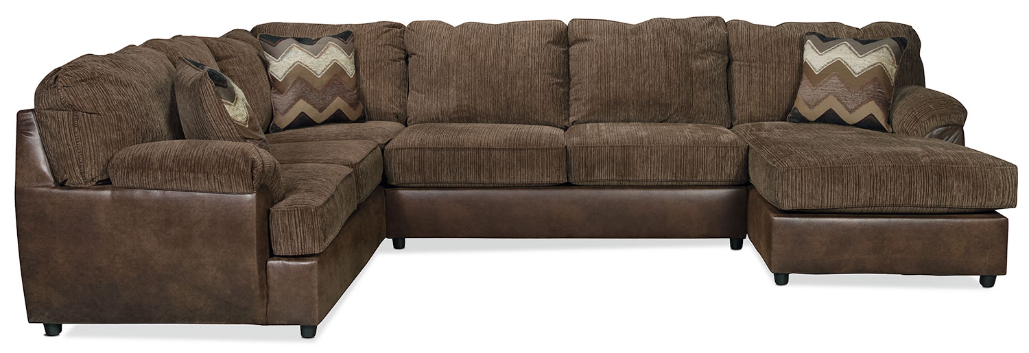 Genola 3-Piece Right-Facing Sectional - Hickory Brown