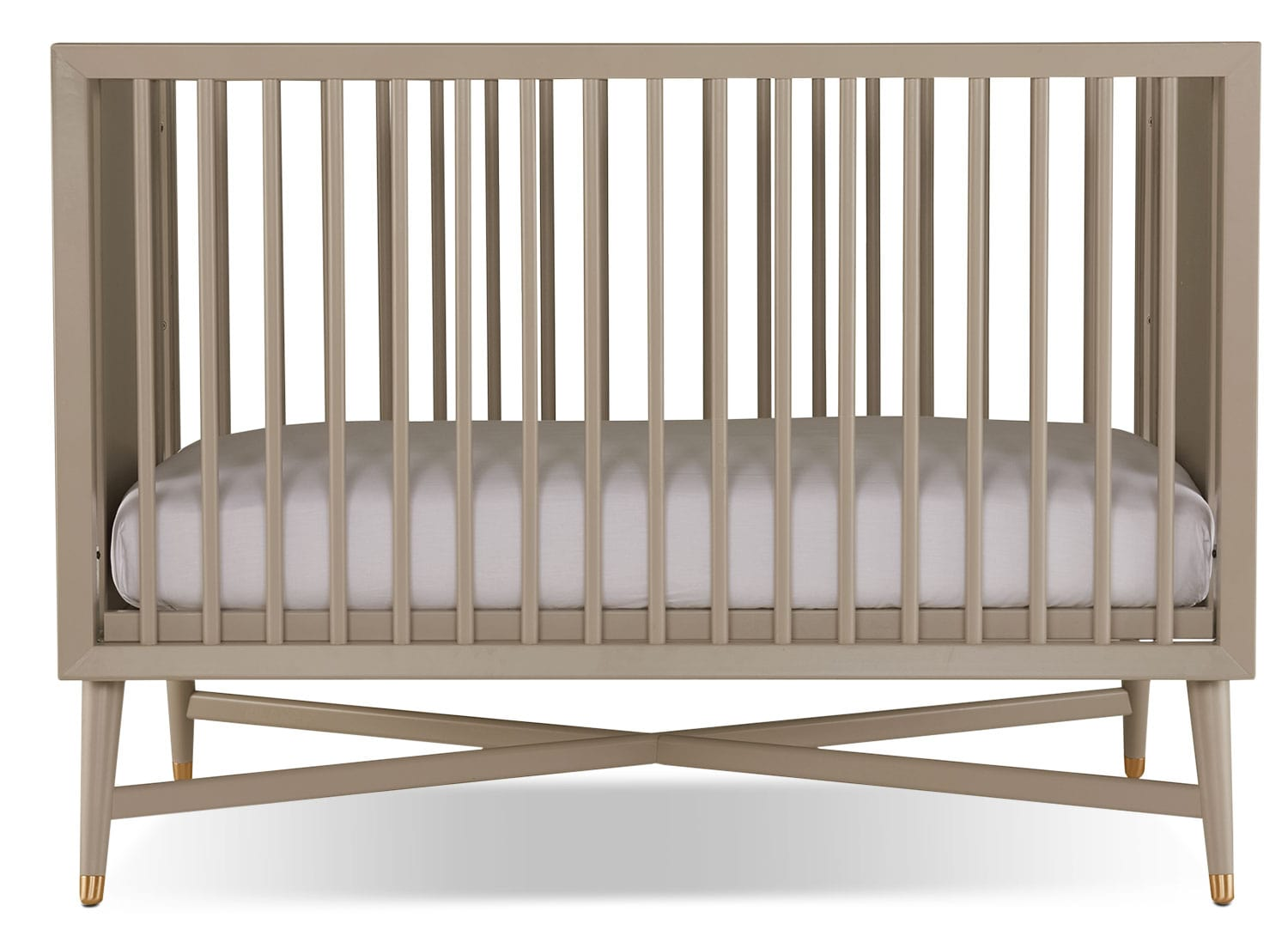 finley convertible crib  french grey  leon's - hover to zoom