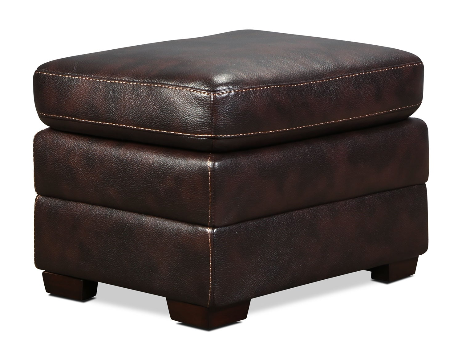 Living Room Furniture - Lytton Ottoman - Brown