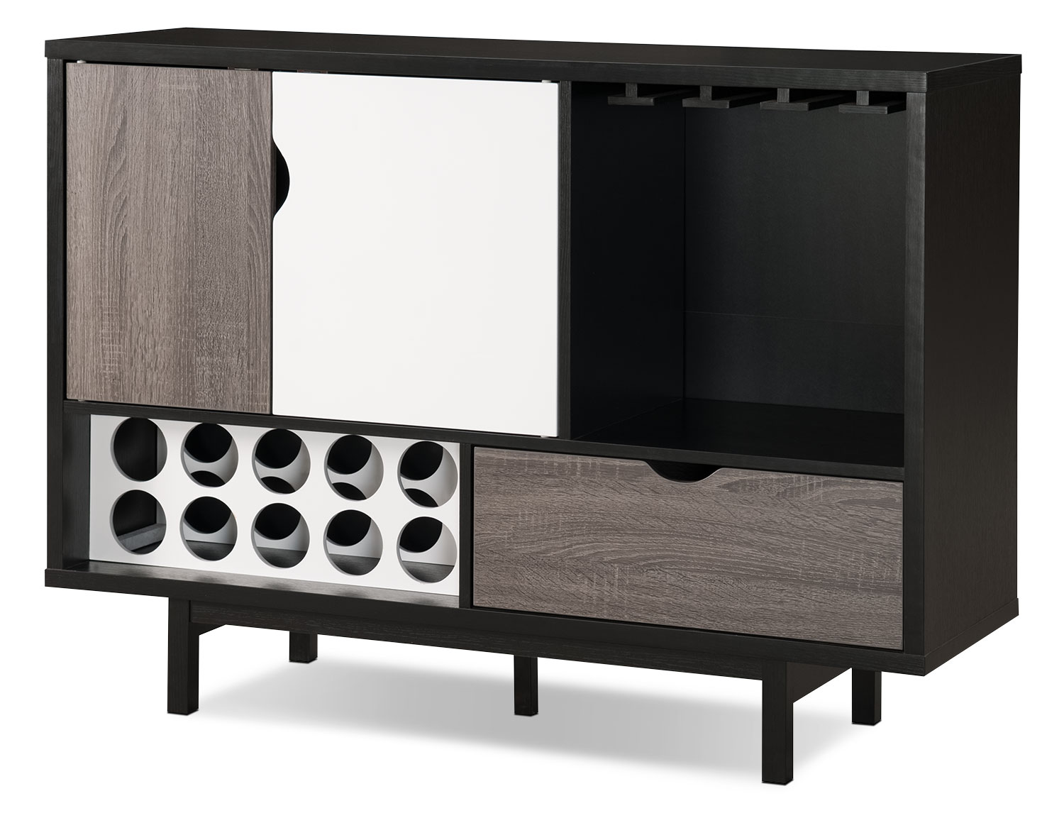 Accent and Occasional Furniture - Perth Bar Cabinet with Wine Storage
