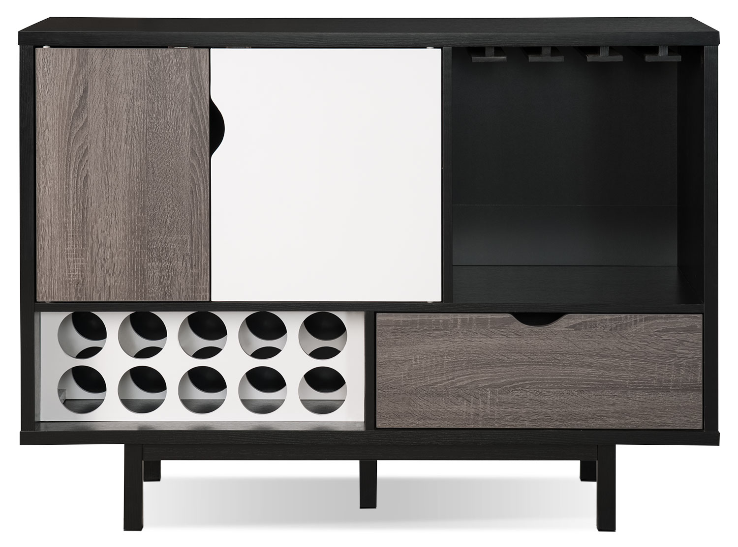 Perth Bar Cabinet With Wine Storage United Furniture Warehouse