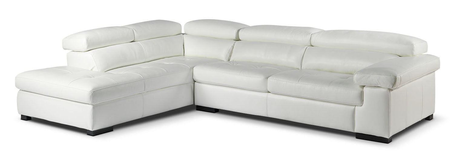 Underwood 2-Piece Left-Facing Sectional - White