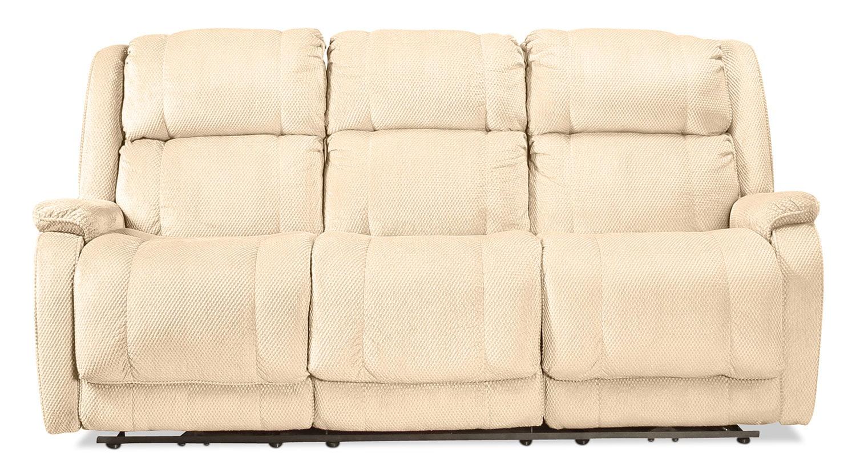 Living Room Furniture - Venarry Manual Reclining Sofa - Oak