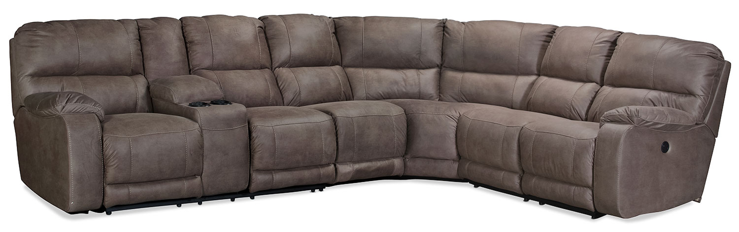 Living Room Furniture - Renwick 4-Piece Power Reclining Sectional - Taupe