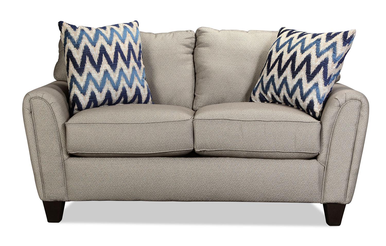 Living Room Furniture - Declo Loveseat - Slate