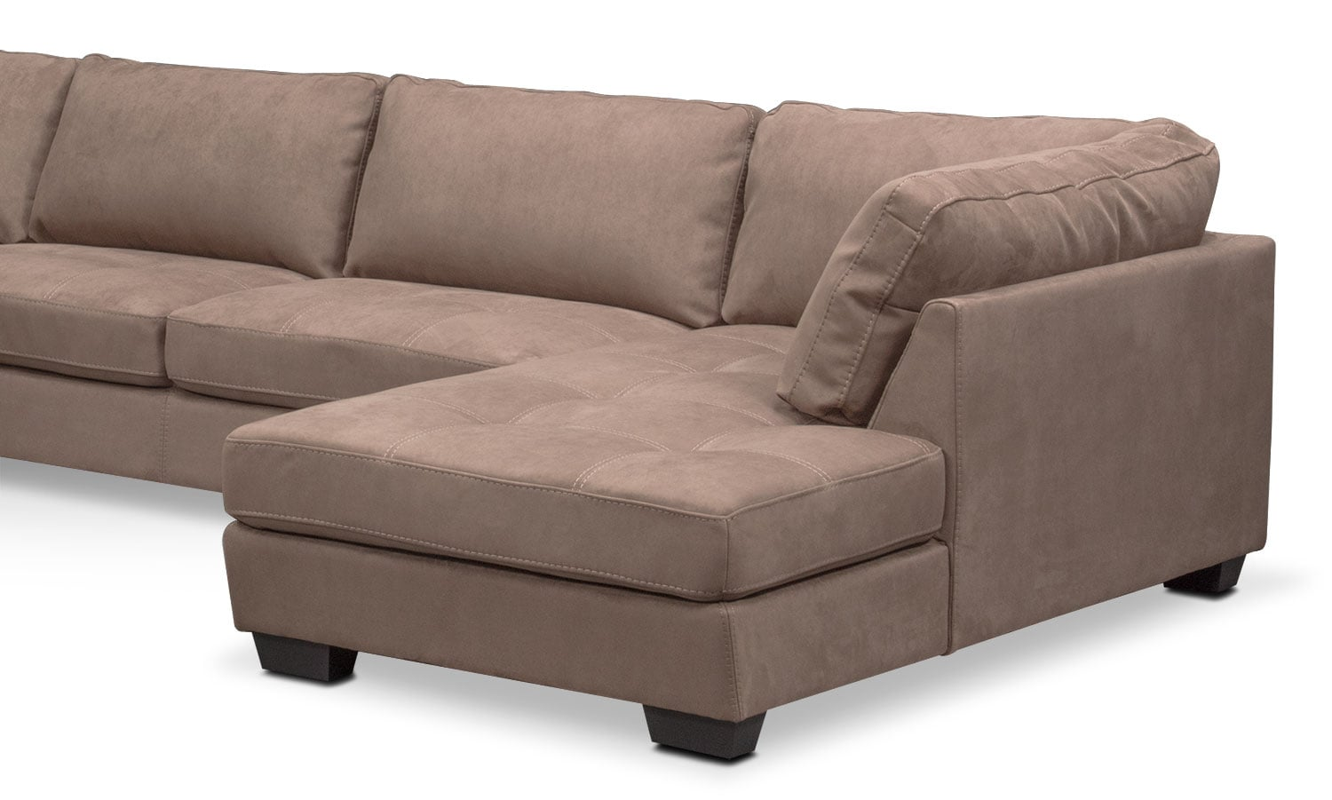 Santana 4 piece sectional with right facing chaise taupe for 4 piece sectional sofa with chaise