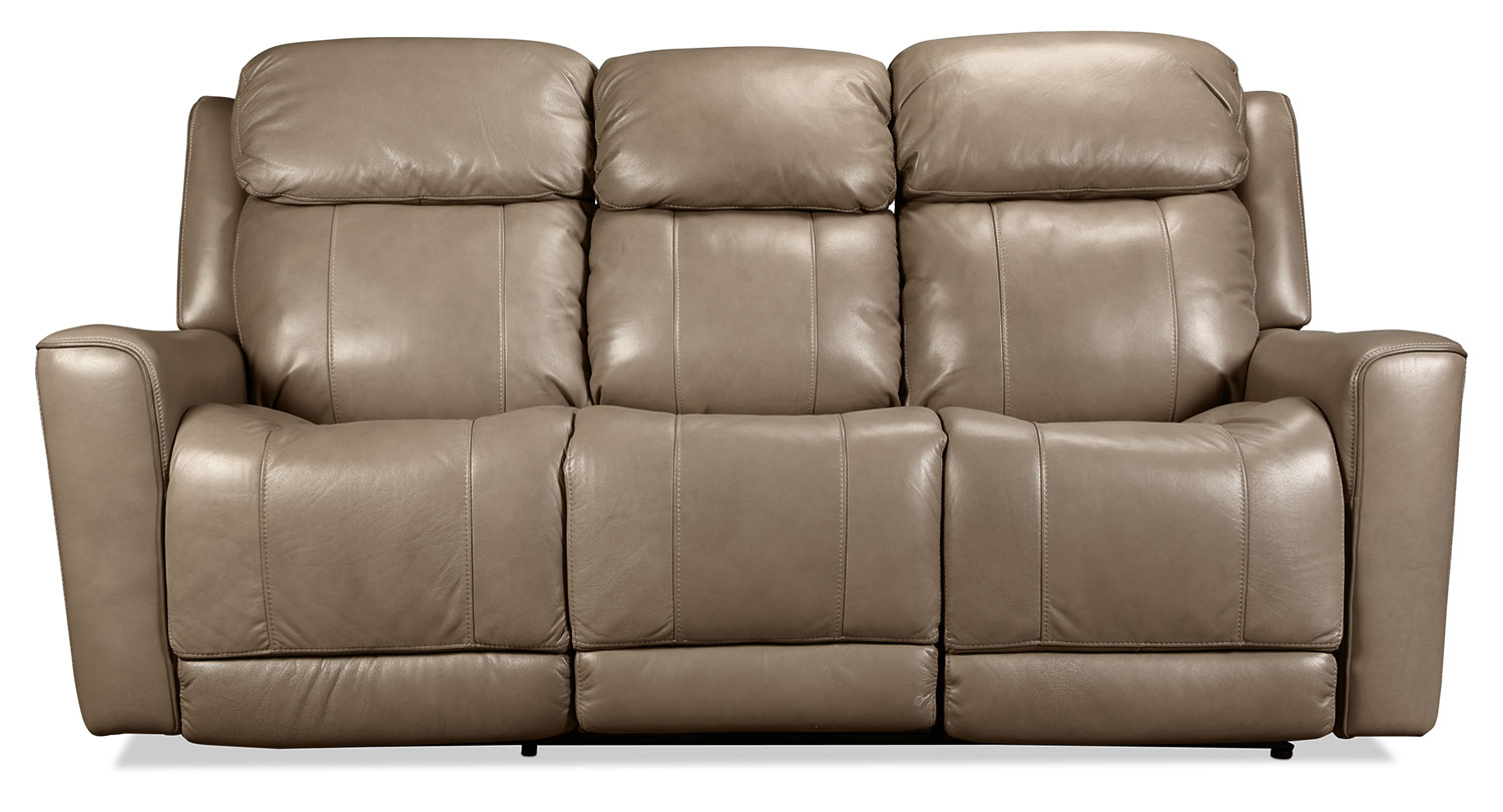 High Top Power Reclining Sofa - Taupe