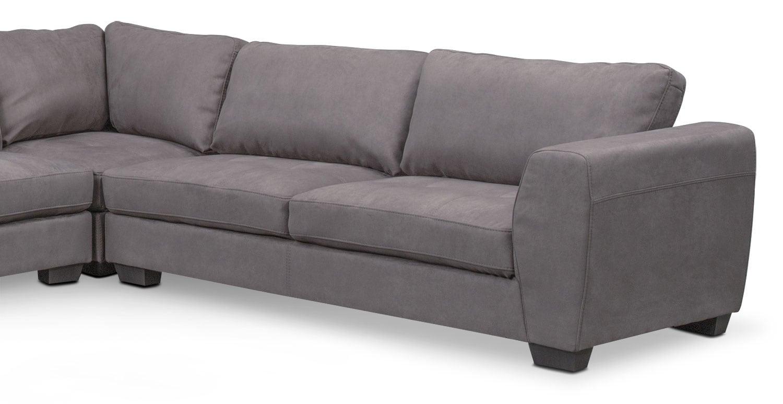 Santana 4 piece sectional with left facing chaise slate for 4 piece sectional sofa with chaise