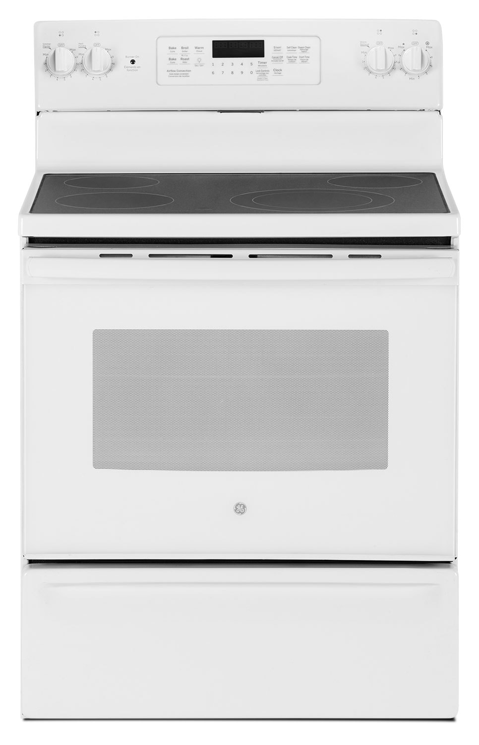 GE 5.0 Cu. Ft. Freestanding Electric Range – JCB830DKWW