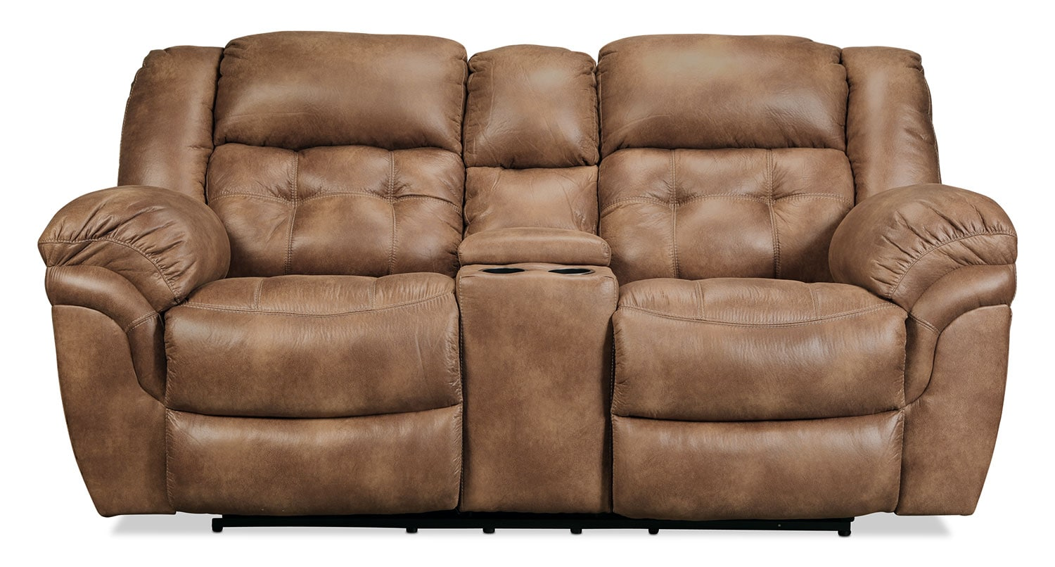 Quinn Reclining Loveseat - Almond