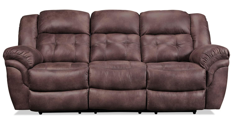 Living Room Furniture - Quinn Reclining Sofa - Espresso