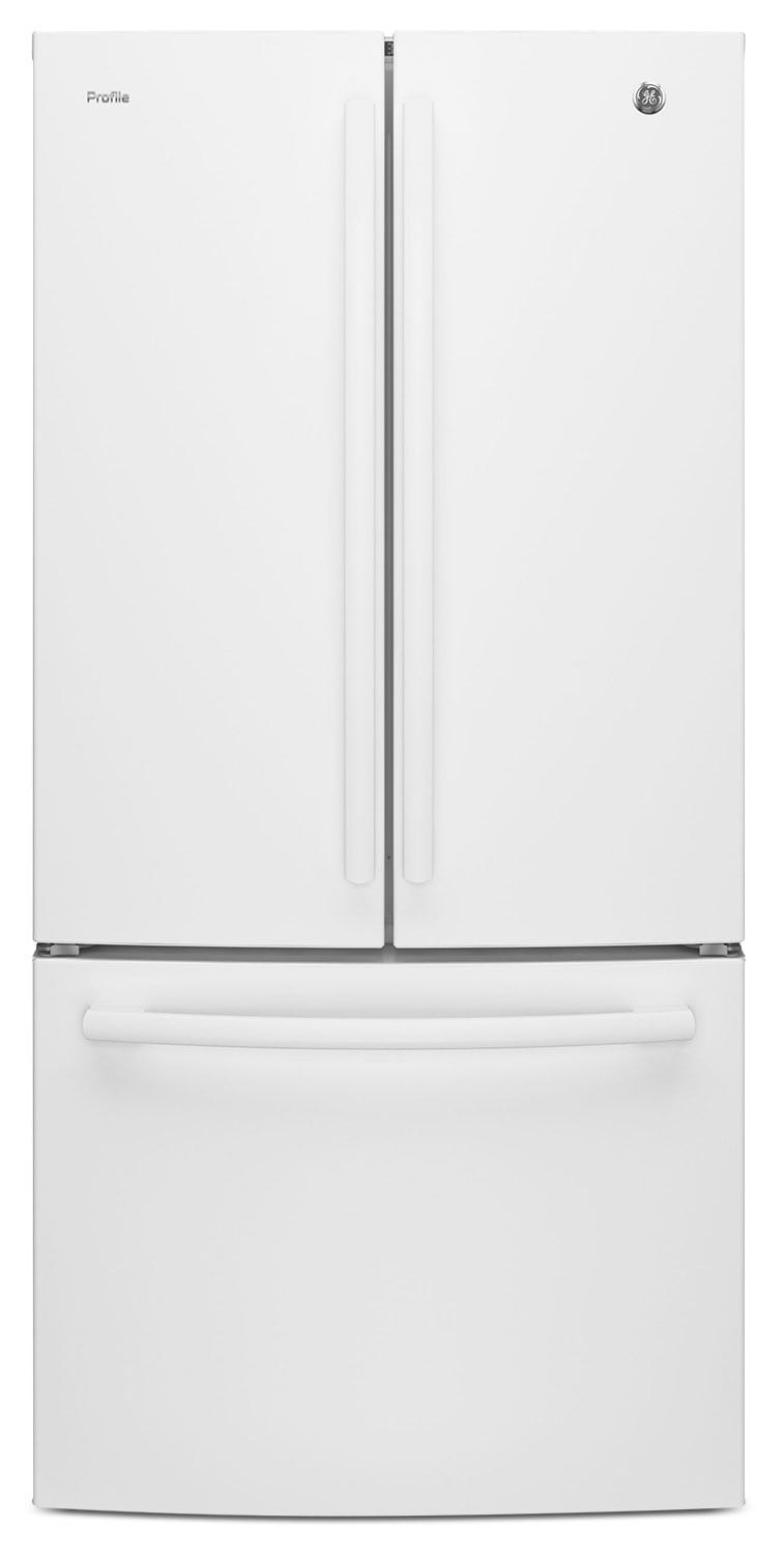 GE 24.8 Cu. Ft. French-Door Refrigerator with Internal Water Dispenser – PNE25JGKWW