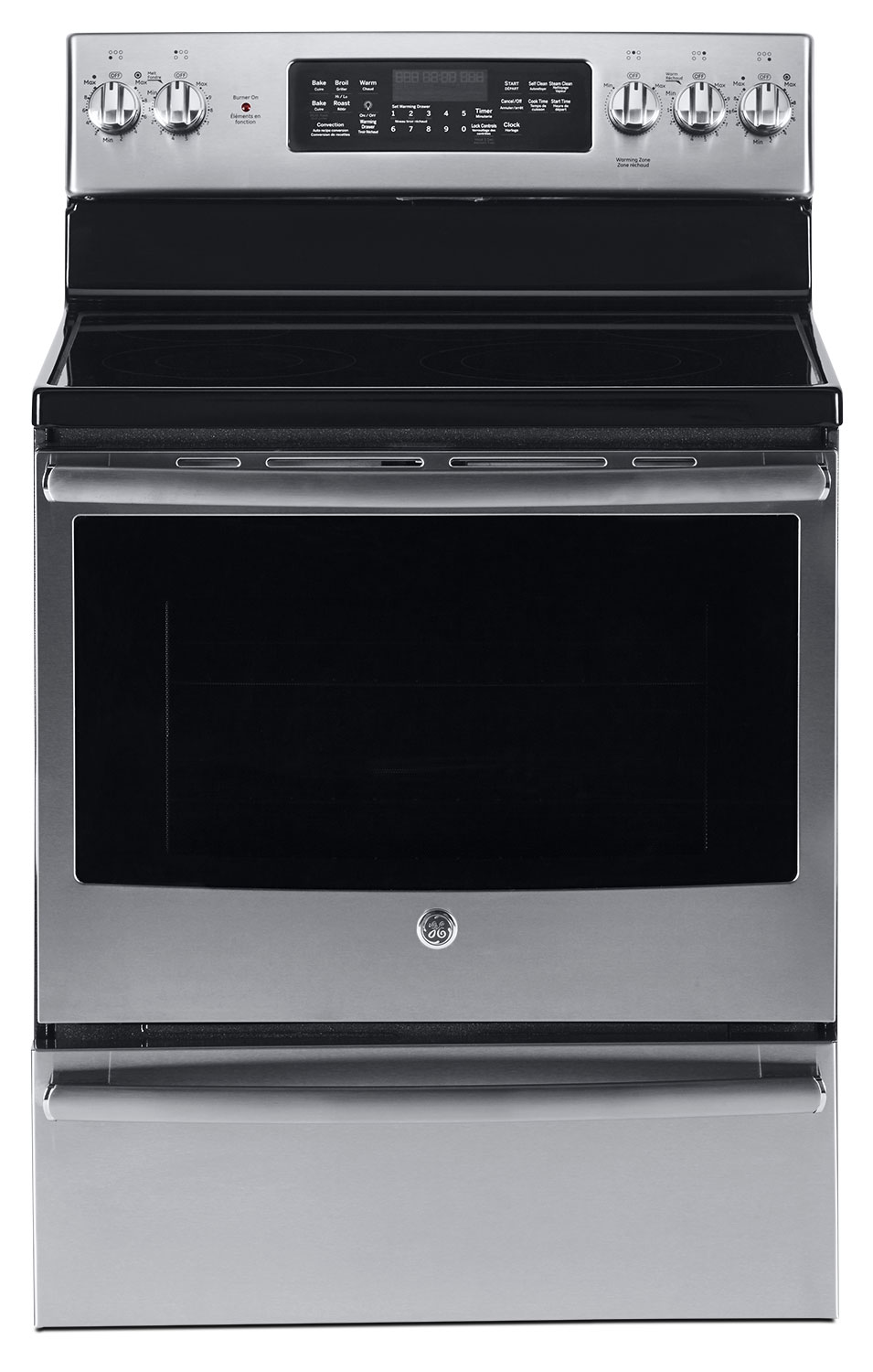 GE 5.0 Cu. Ft. Freestanding Electric Range with Warming Drawer – JCB860SKSS