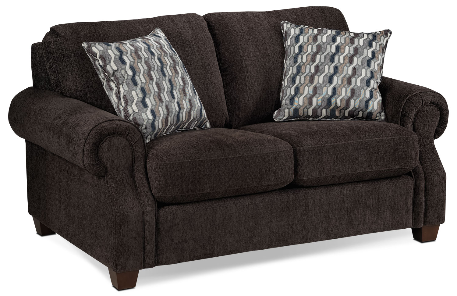 Living Room Furniture - Barbara Loveseat - Espresso