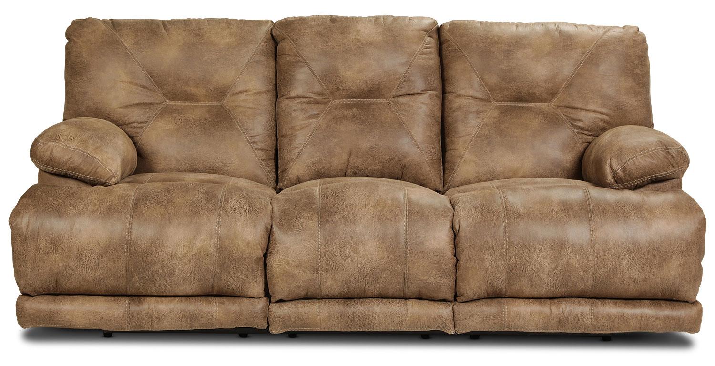 Living Room Furniture - Elgin Reclining Sofa - Brandy