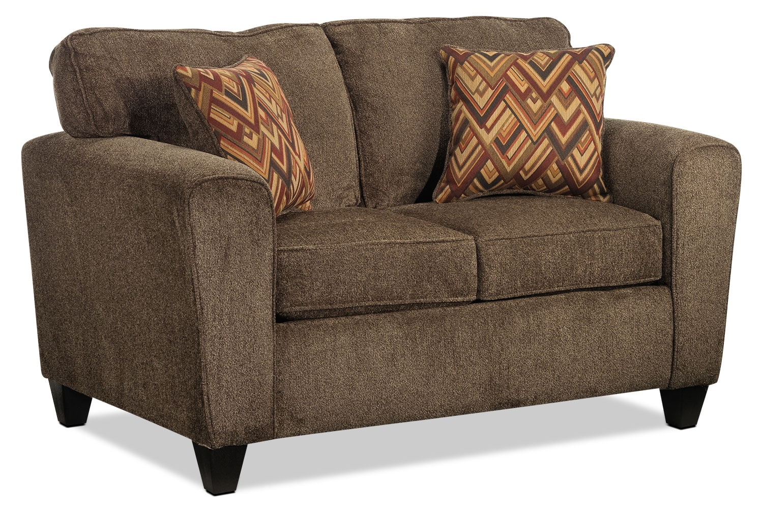 Living Room Furniture - Cornell Loveseat - Brown